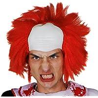 CALVO Peluca Accesorio Disfraz - HAIR ON CALVO Gorra Estilo Peluca - Payaso wigm , LOCO
