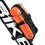 Inbike Fahrradschloss Faltschlöss für Fahrrad mit Rahmenhalterung(Orange Anti-Hydraulik)