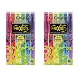 Pilot 4136S6 Textmarker FriXion Light, 12 Stück, pink/gelb/grün/blau/violett/orange (12 Stück, Mehrfarbig)