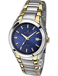 Accurist Gents Analogue Watch With Blue Dial And Two Tone Stainless Steel Bracelet 7109