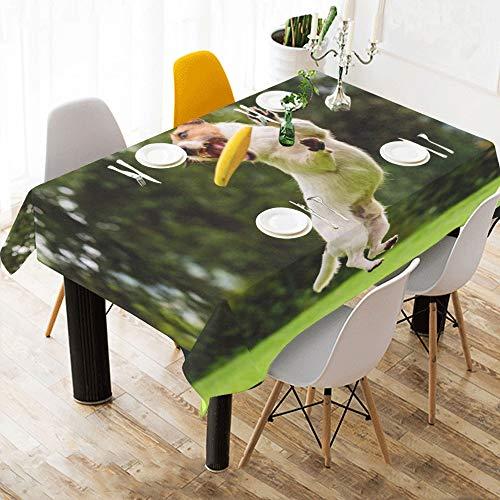 Reopx Hund fangen Fliegende Scheibe benutzerdefinierte Baumwolle leinen gedruckt Platz Fleck beständig tischwäsche Tuch Abdeckung tischdecke für küche Hause esszimmer tischplatte Decor -