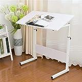 Bureau d'ordinateur pliant Table ajustable de table de tour de table de plateau portable de portable mobile d'ordinateur portable de support de bureau pour la lecture de soins infirmiers d'hôpital de