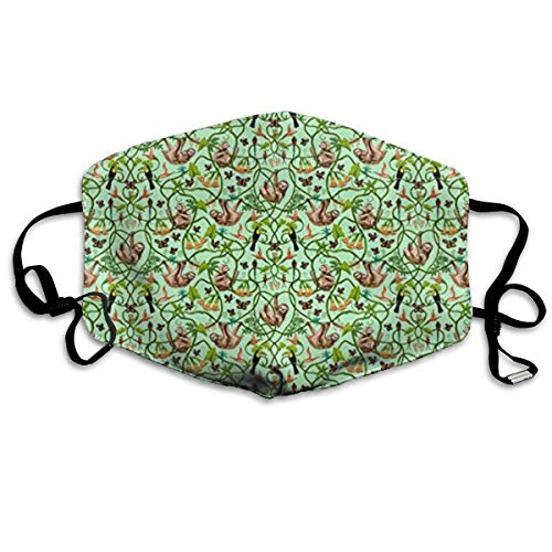 Daawqee Staubschutzmasken, Sloths and Butterflies Allergy & Flu Mask - Comfortable, Washable Protection from Dust, Pollen, Allergens, Cold & Flu Germs with Antimicrobial; Asthma ()