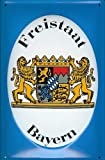 Blechschild Nostalgieschild Freistaat Bayern Wappen Löwe bayerisches Wappenschild retro Schild