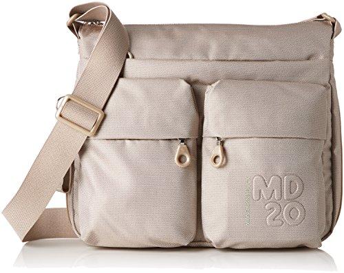 Mandarina Duck - Md20 Minuteria, Borsa a spalla Donna Grigio (Light Taupe)