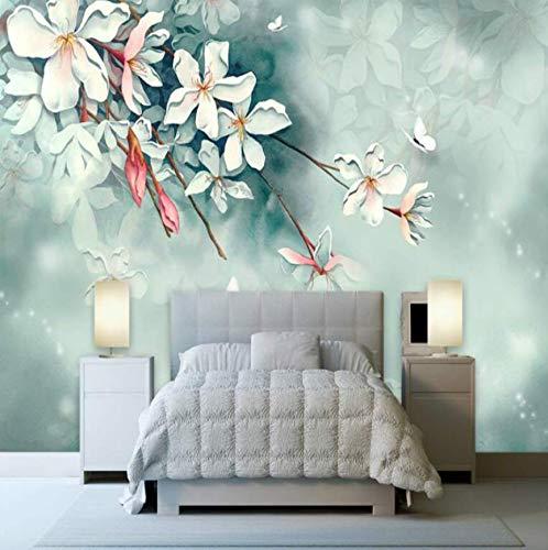 Fototapete 3D Wallpaper Für Wände 3D Foto Silk Murals Tapete Anpassung Hintergründe Für Wohnzimmer Traum Handgemalte Kirsche, 350 Cm * 245 Cm