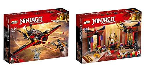 Steinchenwelt LEGO NINJAGO 2er Set: 70650 Flügel-Speeder + 70651 Duell im Thronsaal