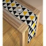 AEROHAVEN™ Abstract Multicolour HD Digital Premium Modern 4 Seater Table Runner Cloth - TR-08 - (Multicolor, 13 x 60 Inch)