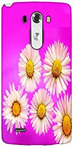 Snoogg Daisies Designer Protective Back Case Cover For LG G3