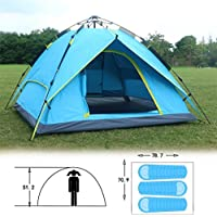 3-4 People Pop-up Waterproof Double Layer Automatic Hydraulic Tent UV Protection Ultralight Outdoor Hiking Camping beach Tents