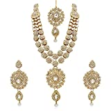 REEVA ZINC BRIDAL GOLD PLATED NECKLACE S...