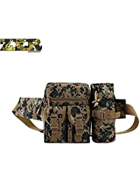 New Men Outdoor Waist Bag Military Travel Water Bottle Waist Pack Bags 600d Nylon Belt Climb Bum Bag