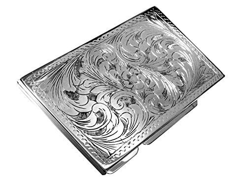 Abbildung: Sterling Silber 925 Zigarettenetui Florenz 6x9x1 cm. Hochwertiges und stabiles Produkt