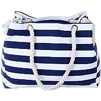 Wewod buona qualità tela Shopper Borsa da donna Shopping Bag Large borsa a tracolla college Bag per studenti (38* 18* 30cm), Tela, navy blue, 14.96(Zoll)*11.81(Zoll)*7.08 Zoll(L*H*W)