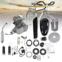 "Wakects 50CC Bicycle Engine Kit, 2-Stroke Gas Motorized Motor Bike Kit, Motorized Bike Engine Kit 26"" 28"""