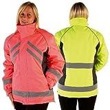 HyVIZ Waterproof Riding Jacket - pink/black - large (HyViz Wasserdichte, reflektierende Reitjacke, Pink/Schwarz, L)