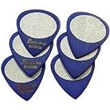 Ibanez BPA16MS-BL Grip Wizard Serie - Plektren Sandgrip Medium (6 Stueck) blau