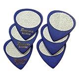 Ibanez BPA16MS-BL Boîte de 6 médiators touché sable Bleu Médium