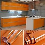 SOLDGOOD Graz Design - Pellicola Adesiva per mobili, in PVC, 0,61 x 5,5 m, con Raschietto e Accessori, Materiale plastico, Arancione, 11M