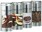 WAK 61001 Coffee Metalldose Time I 4fach sortiert, 4Stück