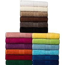 Toalla - Serie clásica de felpa - calidad 500 g / m² - todos los tamaños y colores - 100% algodón - 4 variantes Set - Pack de 2 toallas (50 x 100 cm) - antracita / gris oscuro