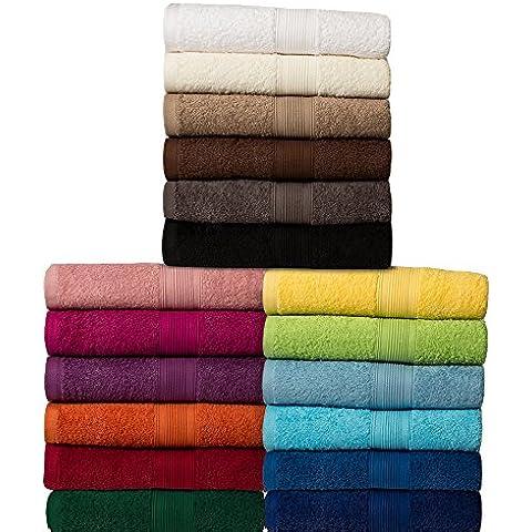 Toalla - Serie clásica de felpa - calidad 500 g / m² - todos los tamaños y colores - 100% algodón - toalla sauna (80 x 200 cm) - arena /