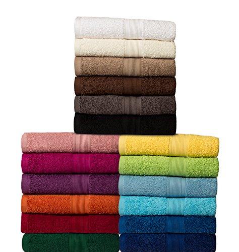 Set di 4 teli doccia (100 x 150 cm) - 100% cotone - qualità 500 g / m² - bianco naturale