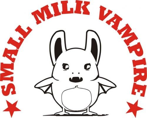 Baby / Kinder T-Shirt langarm Small milk vampire / Größe 60 - 152 in 6 Farben Hellblau
