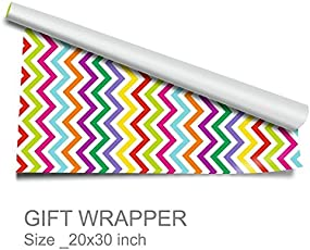 """Artemisia-Gift Wrappers-Zig Zag- Chevron Print-Pack of 10-Size-20""""30"""