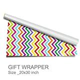 #8: Artemisia-Gift Wrappers-Zig Zag- Chevron Print-Pack of 10-Size-20