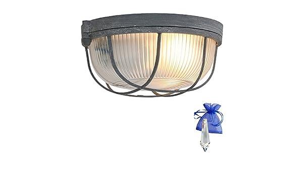 Plafoniere Da Nave : Barca lampada grigio effetto vintage Ø 24 cm e27 utilizzabile come
