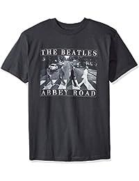 Bravado Men's The Beatles Abbey Road Distressed T Shirt