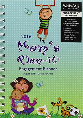 Wells Street by Lang Mom's 2016 Engagement Planner, August 2015 to December 2016, 6.5 x 8.5 Inches (7005079) by Lang