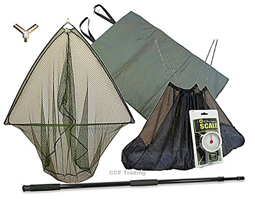 42-CARP-FISHING-LANDING-NET-2M-HANDLE-UNHOOKING-LANDING-MAT-SLING-SCALES-GRN-MB