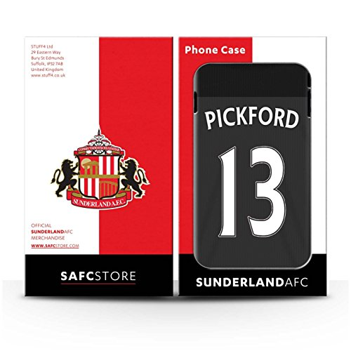 Offiziell Sunderland AFC Hülle / Glanz Snap-On Case für Apple iPhone SE / Pack 24pcs Muster / SAFC Trikot Away 15/16 Kollektion Pickford
