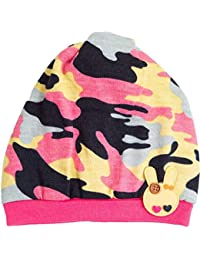Gubbarey Brown Woollen 2 in 1 Winter Wear Caps Cum Neck Warmer Beanie Caps for Babies and Kids in Attractive Designs and Colours (Up to 6 Years Old)