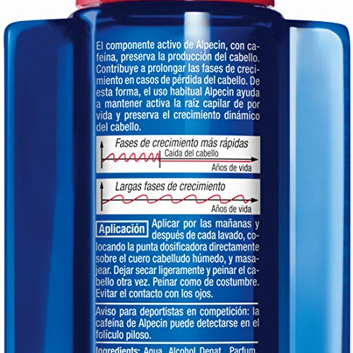 51yOT28N4sL - Alpecin Cafeína Líquida, 1 x 200 ml - Líquido anticaída - energía pura para las raíces