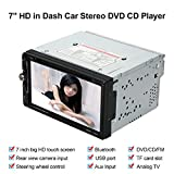 KKmoon Universal 7Zoll 2 Din Car Stereo DVD CD Player Radio Entertainment Multimedia mit HD Touchscreen Unterst¨¹tzt Bluetooth, USB/TF FM-Aux-Eingang-TV¡­
