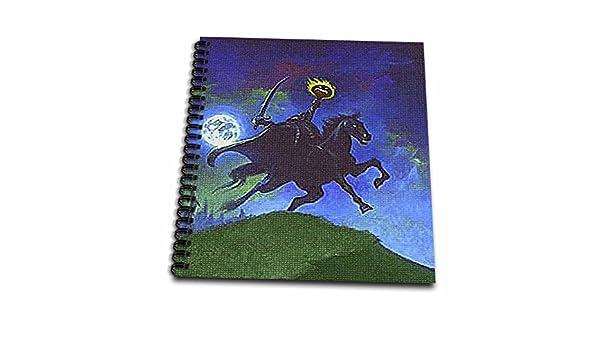 3dRose db/_36405/_1 Headless Horseman Cartoon Textured Drawing Book 8 by 8-Inch