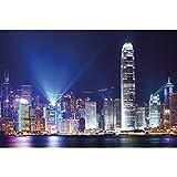 GREAT ART XXL Poster - Hongkong bei Nacht - Wanddekoration