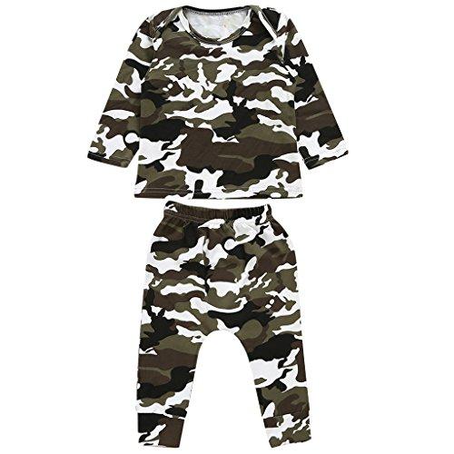 Gazechimp Kinder Baby Armee Camo Anzug Outdoor Sport Spandex Outfits Set - Tarnung, 80 (Säuglings-camo-kleidung)