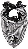 s.Oliver Damen Halstuch 39.811.91.3772, Grau (Grey/Black Placed Print 99d1), One Size (Herstellergröße: 1)