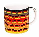 Brauns Deutschland Porzellanbecher 0,35l, schwarz/rot/gold, 95015