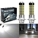 NATGIC 2 STUFEN H3 Lampen 900 Lumen 3014SMD 78-EX Chipsätze H3 Lampen mit Objektiv Projektor für Nebelscheinwerfer, Xenon Weiß 6500 Karat, 12-24 V 4 Watt