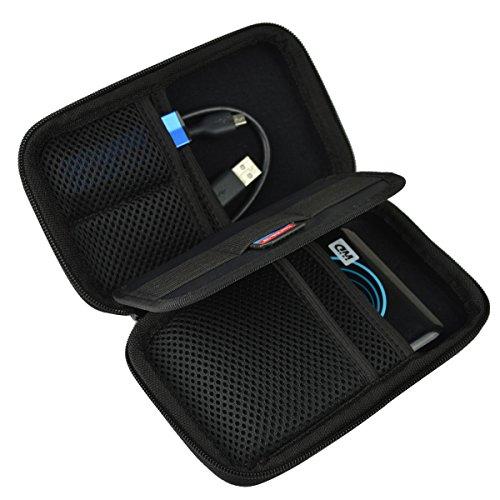 Estarer Festplattentasche Schutztasche Hülle für externe Festplatten Tasche für USB-Sticks und Speicherkarten -Schwarz