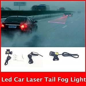 Amrok Trading-Led Car Laser Tail Fog Light Anti Collision Rear End Warning Light With Keyring For Hyundai I20