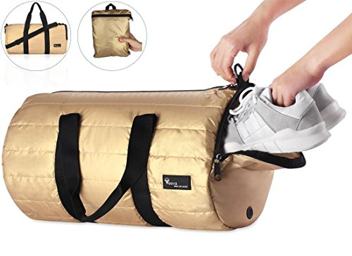Outdoor Rucksack, Gold Gym Bag (Baseball Gold Womens)