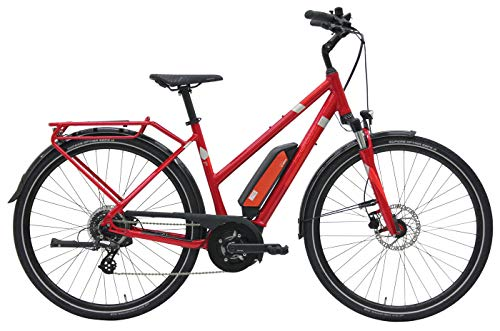 Damen E-Bike 28 Zoll - Pegasus Solero E8 - Pedelec Bosch Active Line Plus Mittelmotor, Akku 400Wh, Shimano Schaltung, rot