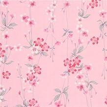 Tela dobby rosa textura flor cerezo rosa blanco Sakura de Japón