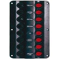 Osculati 14.104.03 - Pannello elettrico Wave 8 interruttori (Wave electric control panel 8 switches)